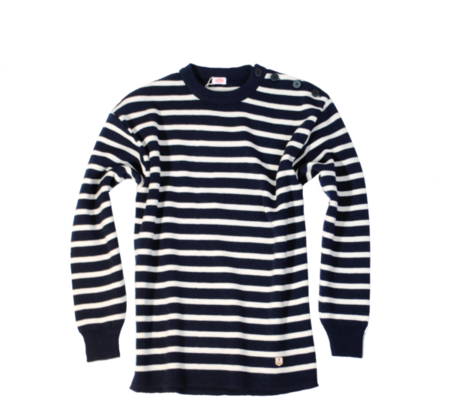 Unisex Armor Lux Fouesnant Wool Sweater - Navy/Nature