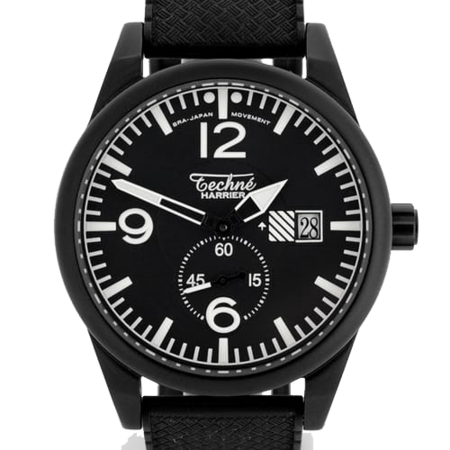 Unisex Techne Harrier GP11 Nitrile Rubber Watch - Black