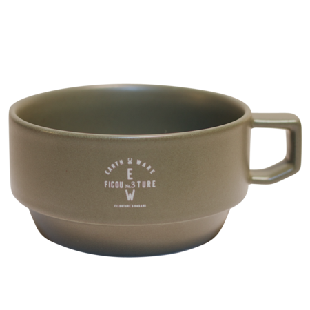 F/CE Military Hasami Block Soup Mug - Army