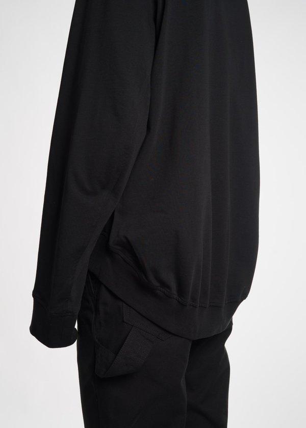 Helmut Lang Drape Back Crewneck - Black