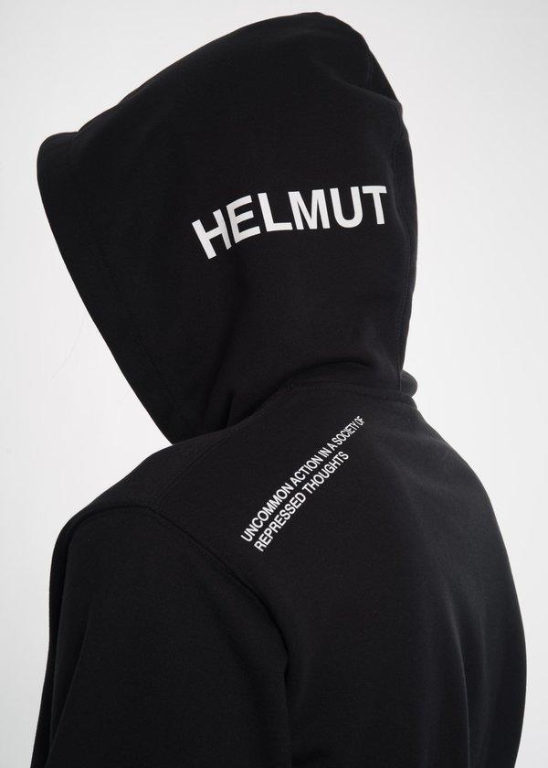 Helmut Lang Index Hoodie Top - Black