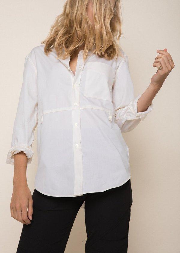 Unisex Abraham Madison Shirt - Ivory Oxford