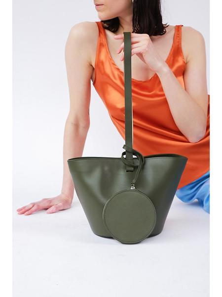 Building Block Short Basket Bag - Kombu