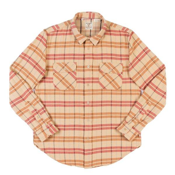 Levi's Vintage Clothing LVC Shorthorn Shirt - Sunfaded Orange Plaid