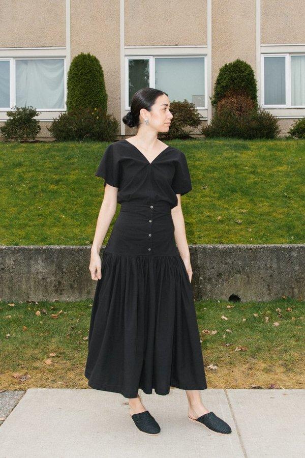 Black Crane Lantan Skirt - Black