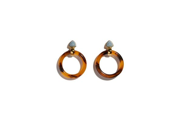 Lizzie Fortunato Sunset Hoops Earrings - Tortoise