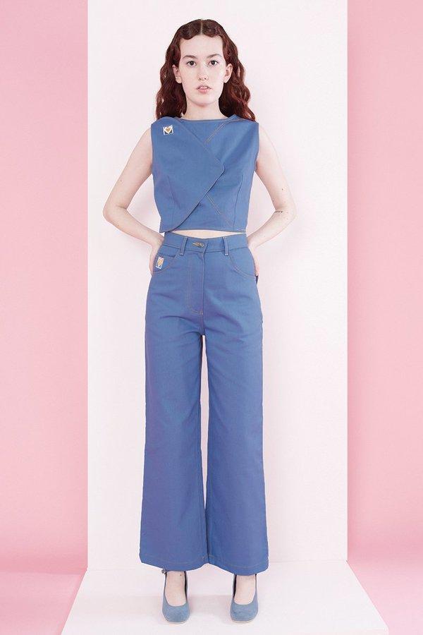 Samantha Pleet Post Jeans - Postal Blue