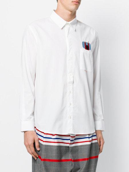 Henrik Vibskov Pillow Shirt Top - White Popeline