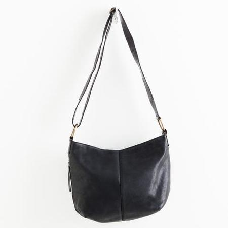 JuJu & Co. Florence Leather Slouchy - BLACK