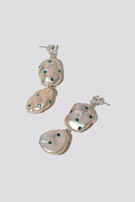 Pauline Pauline Emerald Pearl Drop Earring