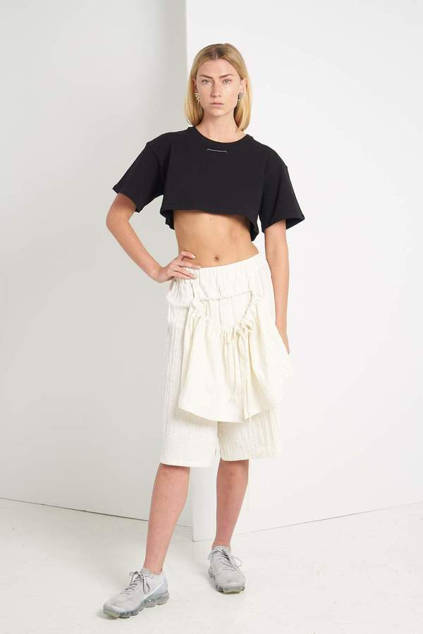 Faux/Real Daily Routine Short Shirt