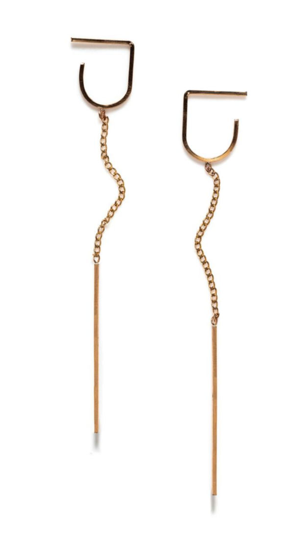 Annika Inez Deep Vertical Pin Earrings