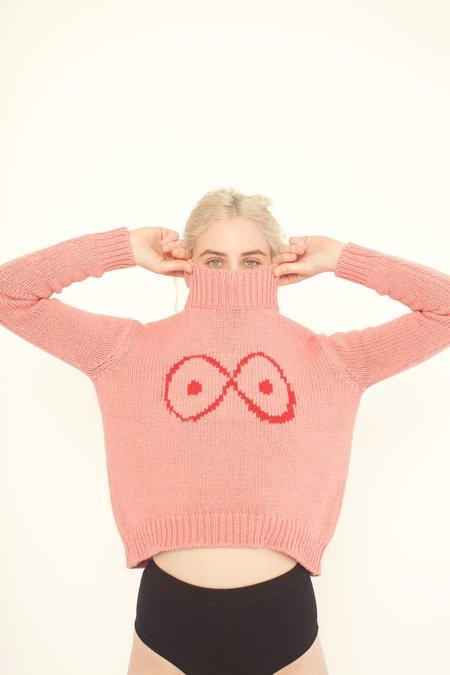 323 Infinite Boob Sweater - Pink Knit