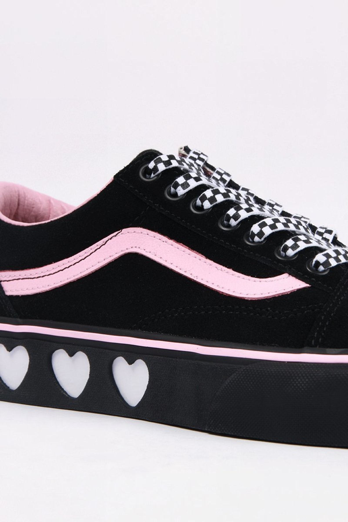 Vans X Lazy Oaf Old Skool Platform Shoes - Black  92dd29731