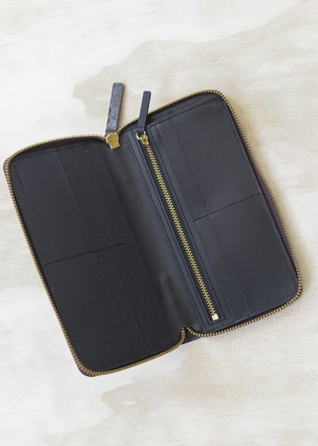 The Stowe Long Zip Wallet - Espresso