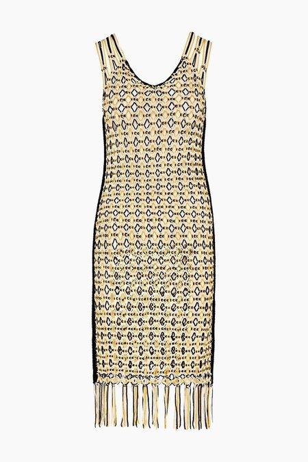 Edun Macrame Fringe Dress