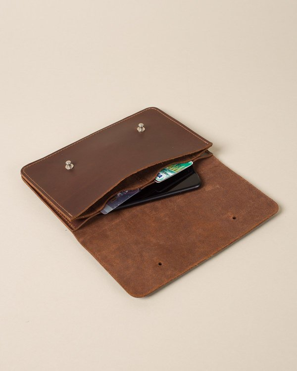 Cask Brown Continental Wallet