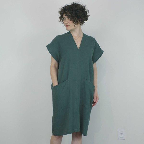 Ursa Minor Studio Genny Dress - Baltic Green