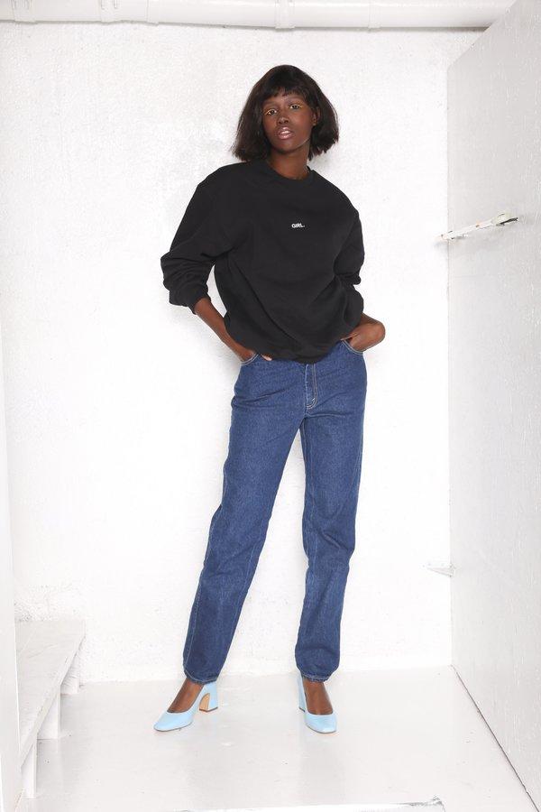 Unisex Intentionally Blank Pullover Sweatshirt - Gurl Black