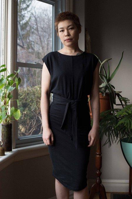 Eve Gravel Toi et Moi Dress - Black