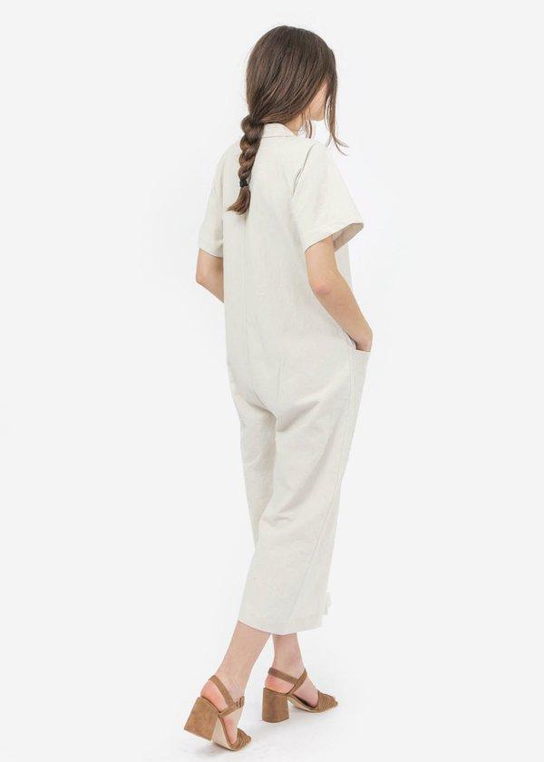 Ilana Kohn Mabel Short Sleeve Coverall - Off White Clay