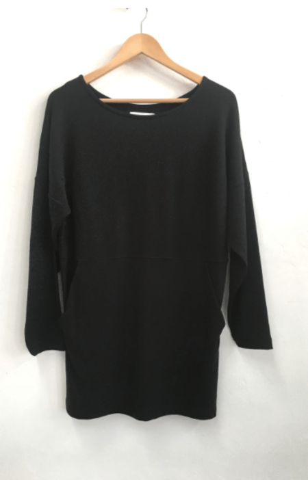 Odeyalo SIMONE LONG SLEEVE DRESS - BLACK