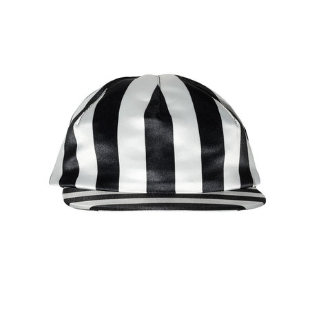 Whole Milk Hail Satin Cap - Black & White