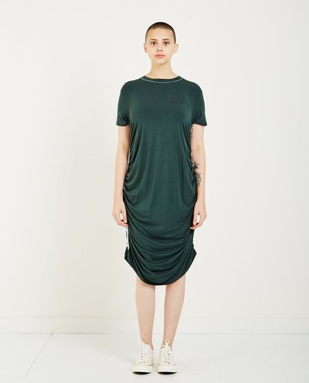 Carven JERSEY RUCHED DRESS - FOREST GREEN