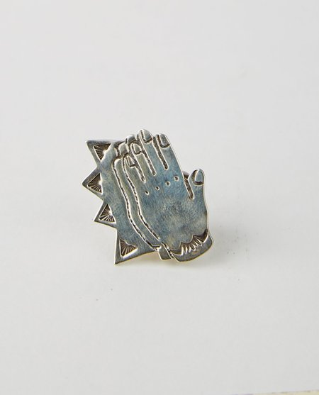 FROM MUU PRAY HANDS PIN - STERLING SILVER