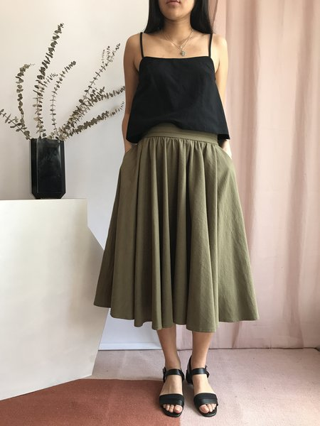 Amanda Moss Vintage Promenade Skirt - Khaki