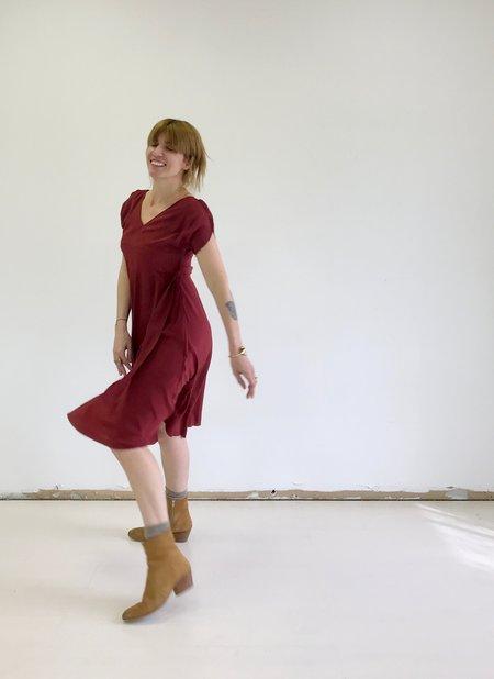 No.6 Eclipse Trapeze Dress in Raisin