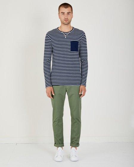 AR321 Thick Stripe Crewneck sweater - Indigo