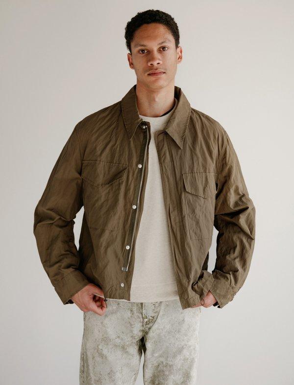 Our Legacy Crop M51 Jacket - Olive Metallic Nylon