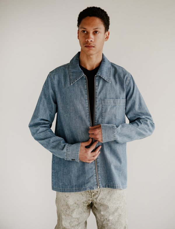 Our Legacy Drip Shirt - Washed Denim