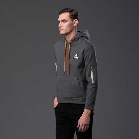 N-p-Elliott Interstellar Zip Hoodie - Grey