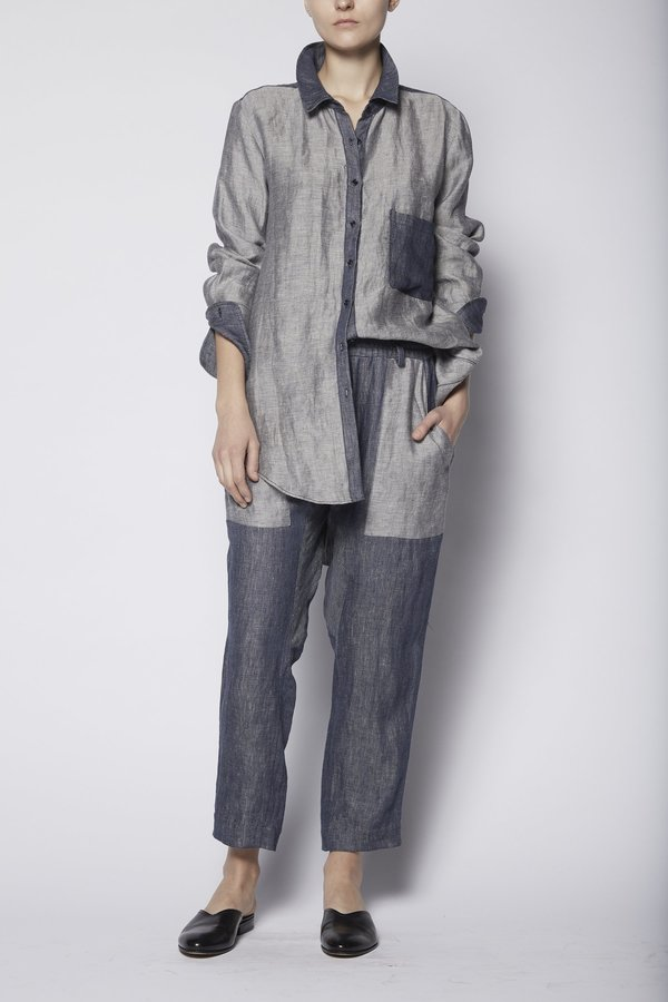 KES Reversed Chambray Jacket Button-Up