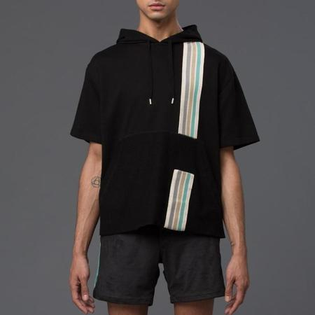 Garciavelez Short-Sleeved Hoodie - Black