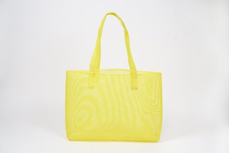 Clyde Mesh Mirage Tote - Canary