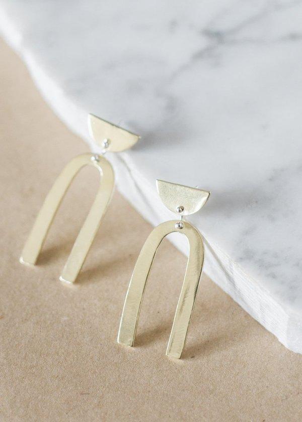 Seaworthy Bella Earrings - Brass