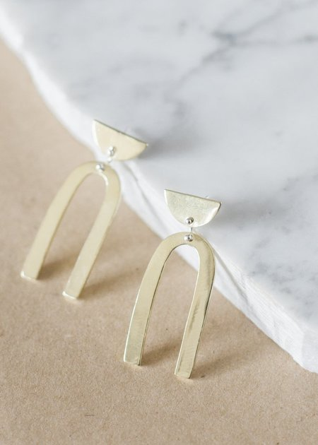 Seaworthy Bella Earrings - Brass