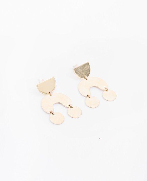 Modern Weaving Teeny Tiny Moon Dancer Earrings - Brass