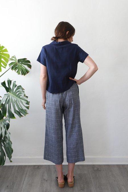 Me & Arrow Sailor Pants - Windowpane Linen