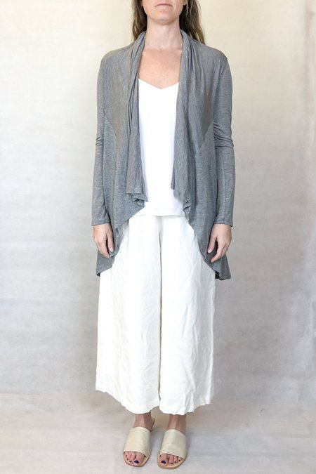 Heather swing cardi - heather grey