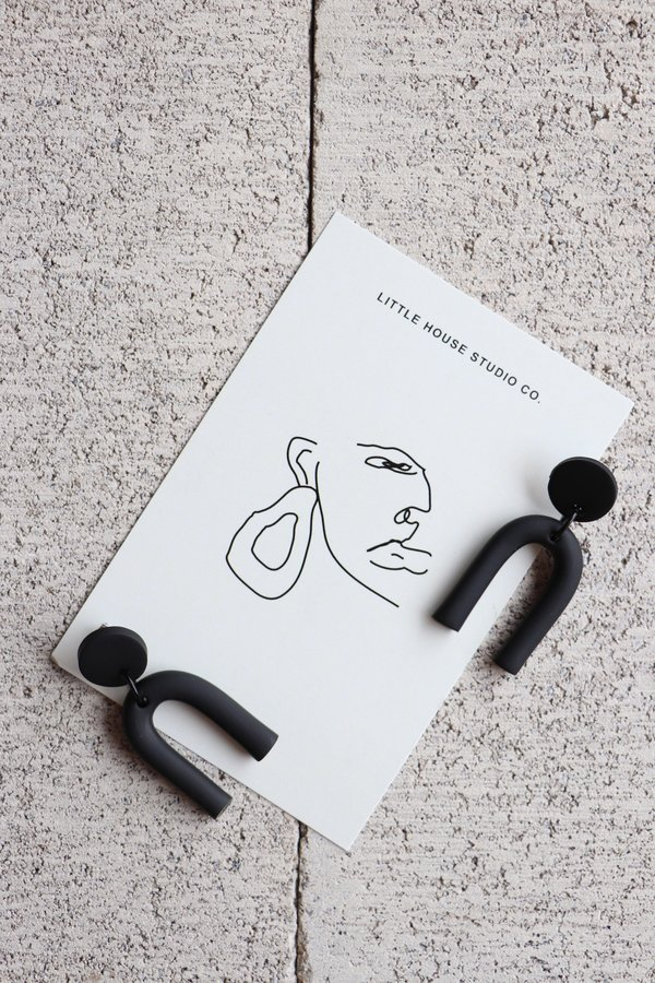 Little House Studio Co. Wright Black Earrings