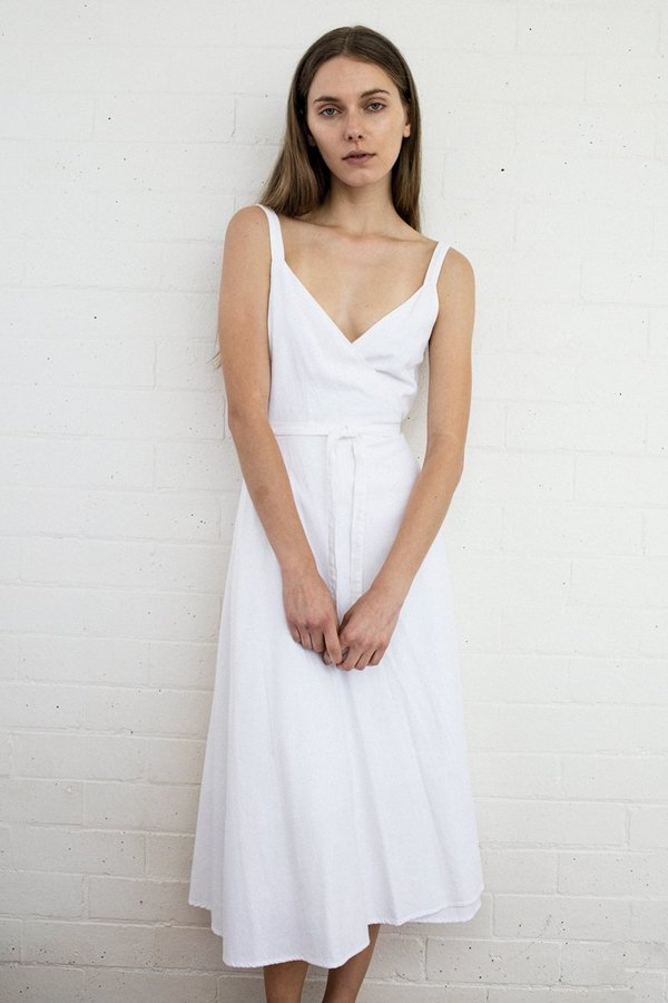 Rollas Diana Wrap Dress – White