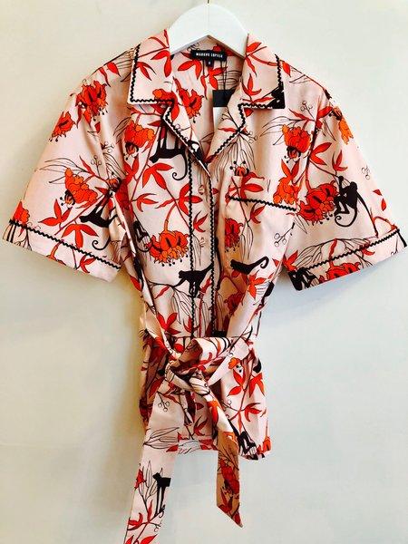 Markus Lupfer Cara Monkey Flower Shirt - Pink