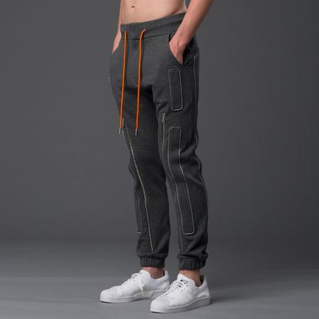 N-p-Elliott Interstellar Slim Zip Jogger - Grey