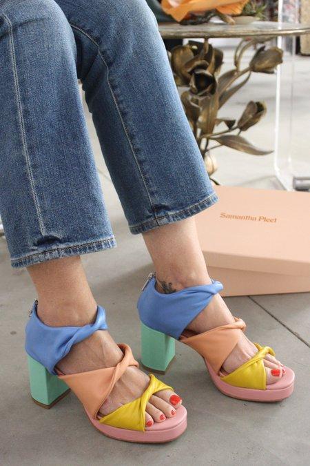 Samantha Pleet Tabernacle Platform Sandal - Rainbow