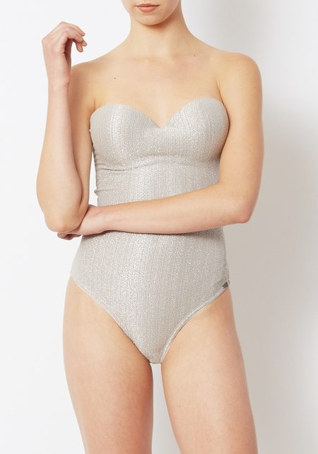 Prism Silver Lurex Chateau Swimsuit