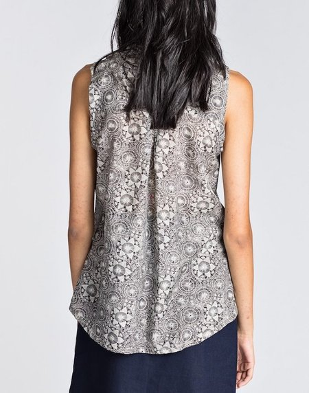 Allison Wonderland Sleeveless Sun Blouse - Petal Print